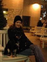Jenna & Snickers at Rockefeller Center
