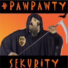 this is sergeant shawnee. she iz in charge of #pawpawty sekurity team this month