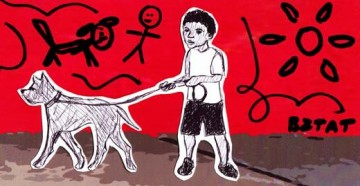 BZTAT sketch - boy and dog